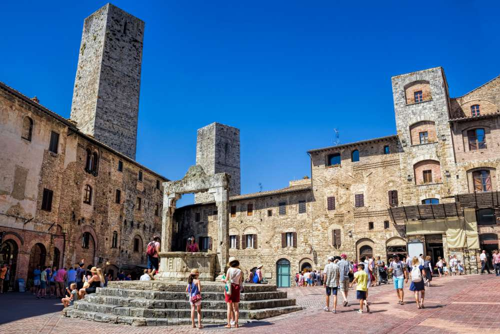 Piazza della Cisterna in San Gimignano | Things to do in San Gimignano