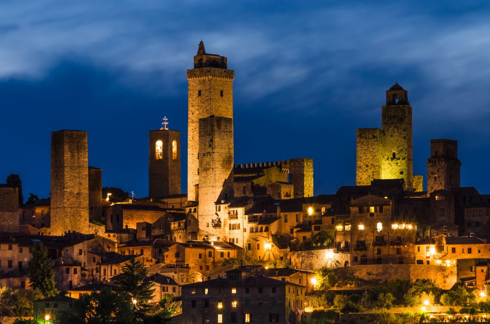 San Gimignano at evening   Day trips from Florence
