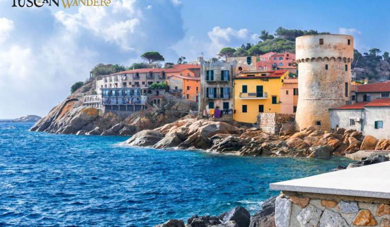 The couloured walls of Giglio Islands' houses