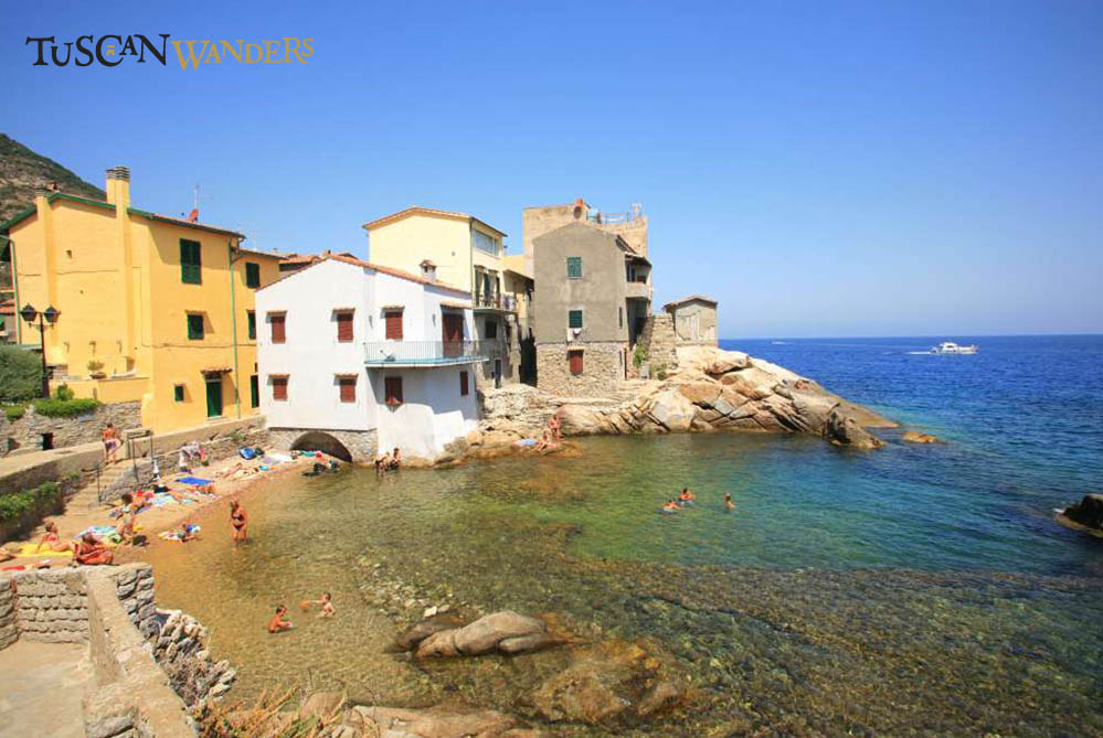 View of Giglio Porto with crystalline water