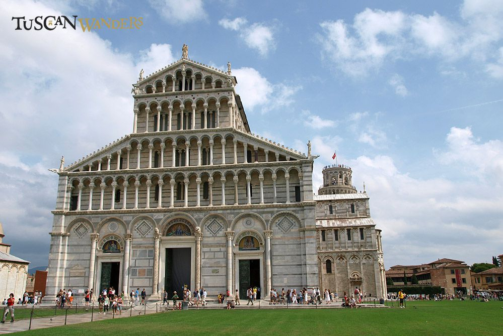 Front view of the Cathedral of Pisa