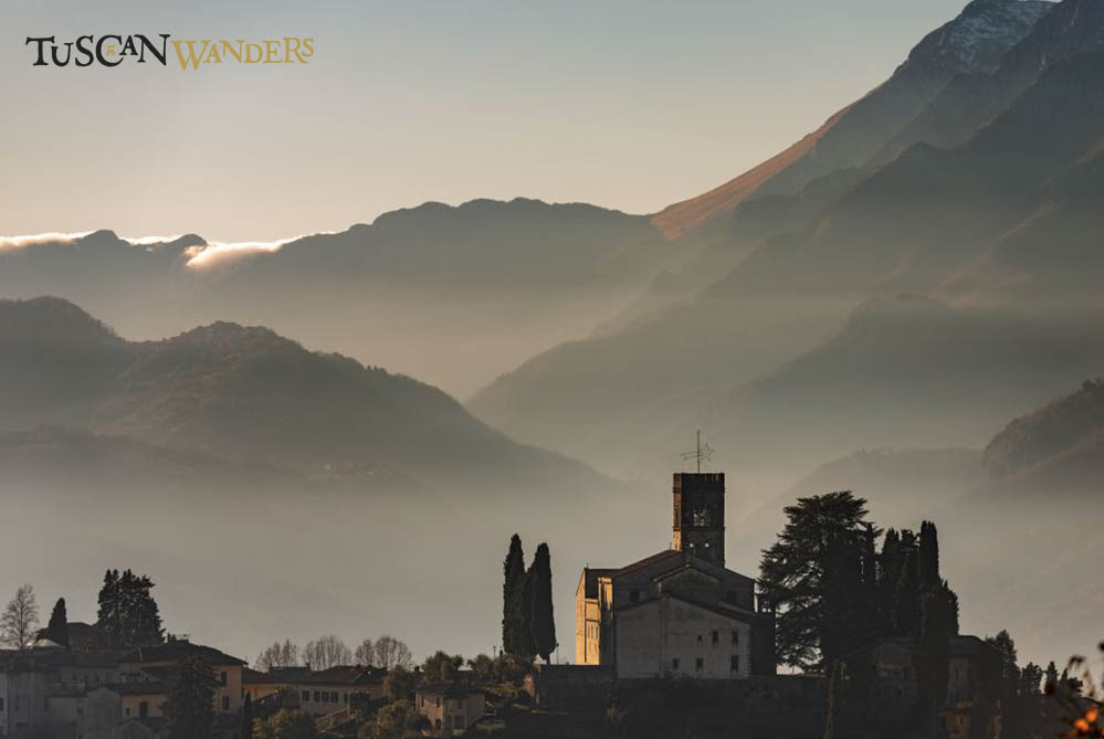 Barga seen from the distance