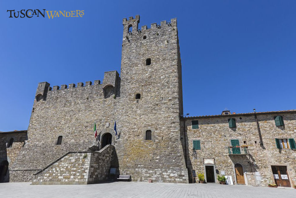 The Rocca of Castellina in Chianti, a medieval castle in a sunny day