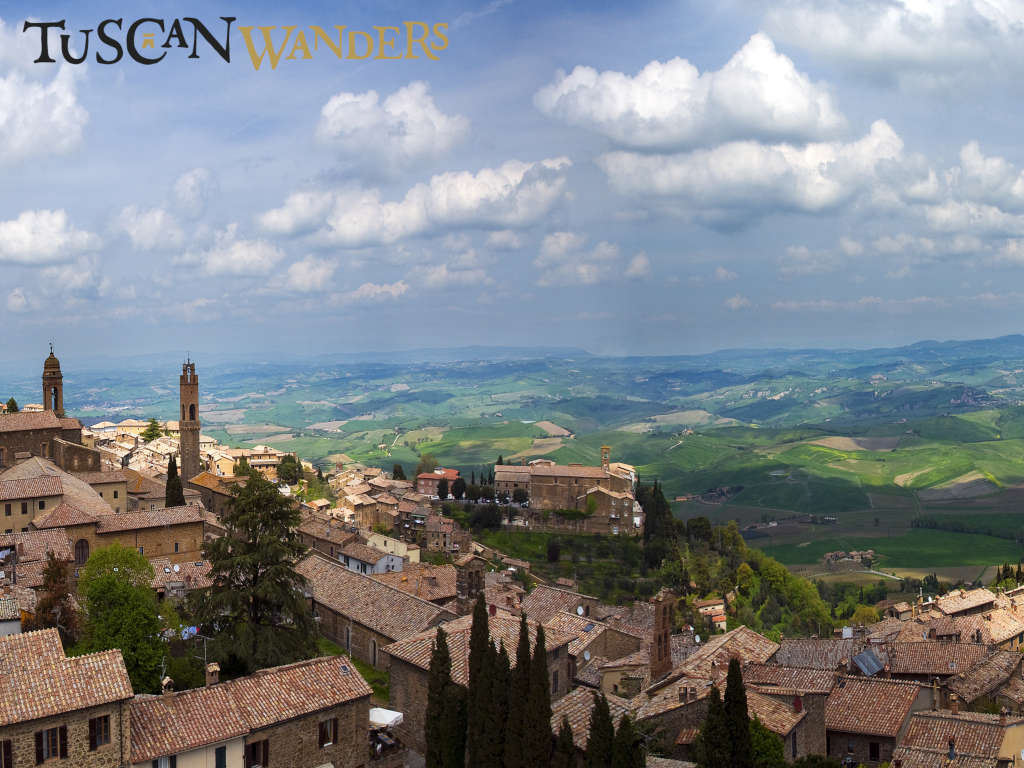 The landscape of Val d'Orcia from Montalcino