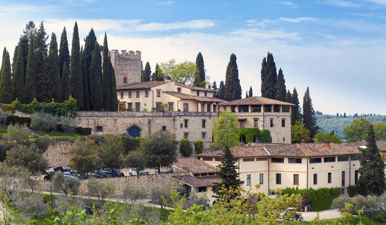 The Castle of Verrazzano is surrounded by nature