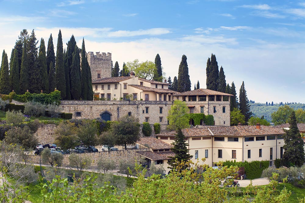 The Verrazzano Castle seen from a distance