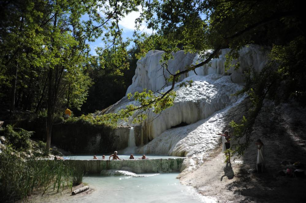 Another view of Bagni San Filippo natural hot springs