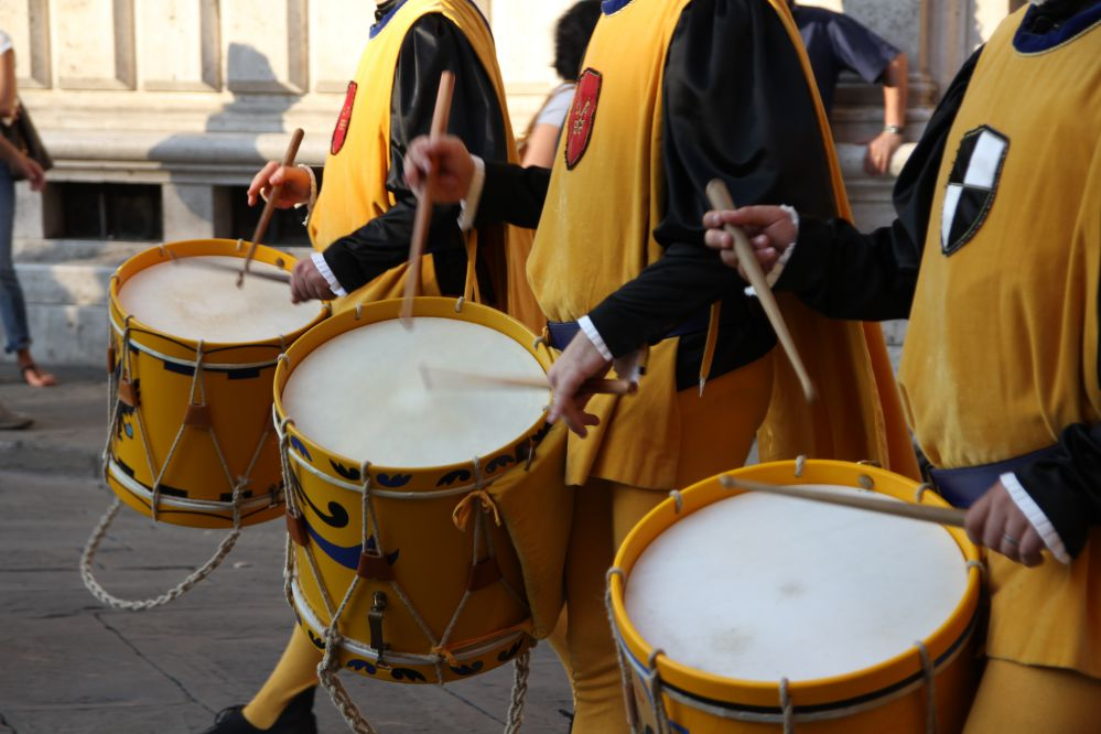 Drummers during the Palio parade
