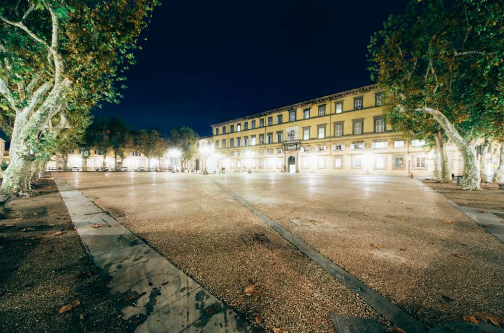 Piazza Napoleone Lucca, with lights
