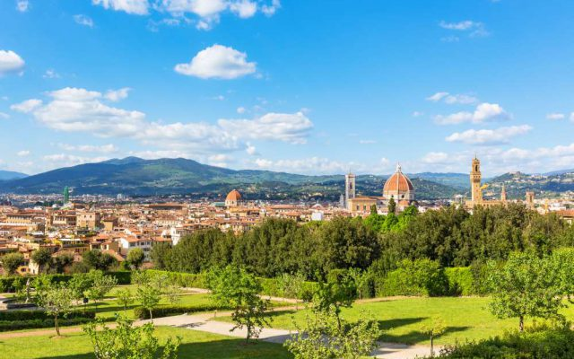 The Boboli Garden offers a wonderful view over Florence