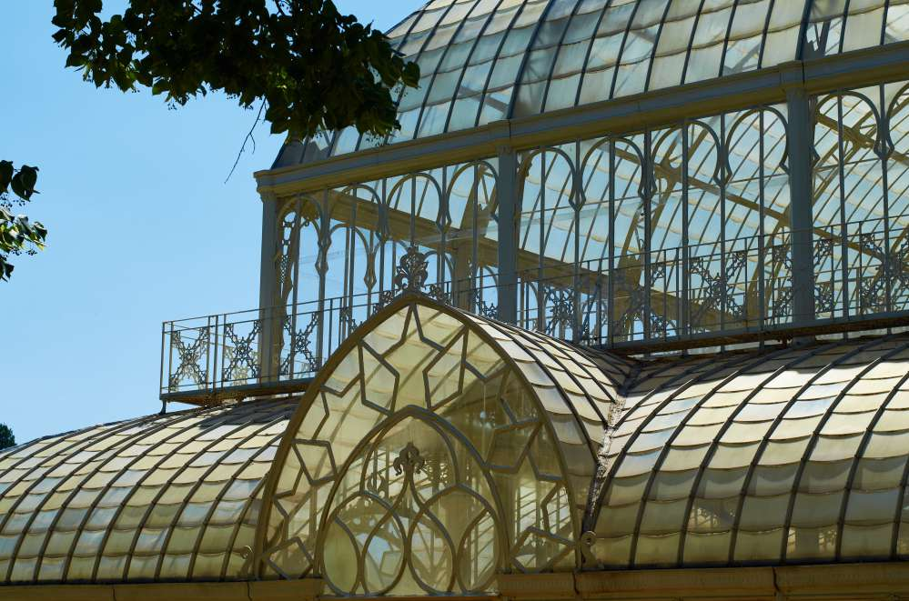 Horticultural garden in Florence, glass and iron tepidarium