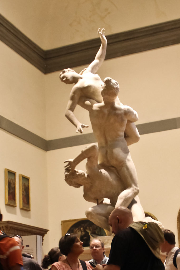 The rape of the Sabine Women, original at the Gallerie dell'Accademia in Florence