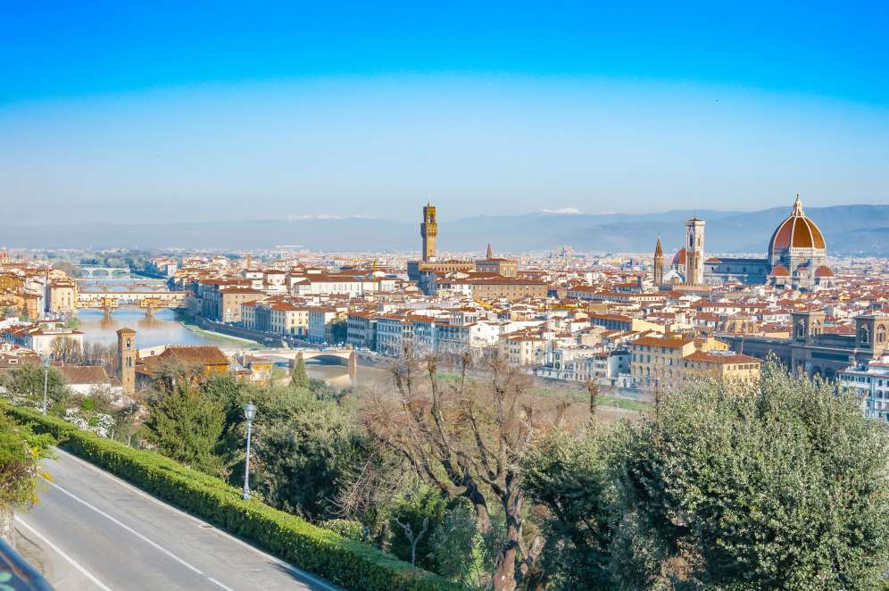 View from Piazzale Michelangelo during the day