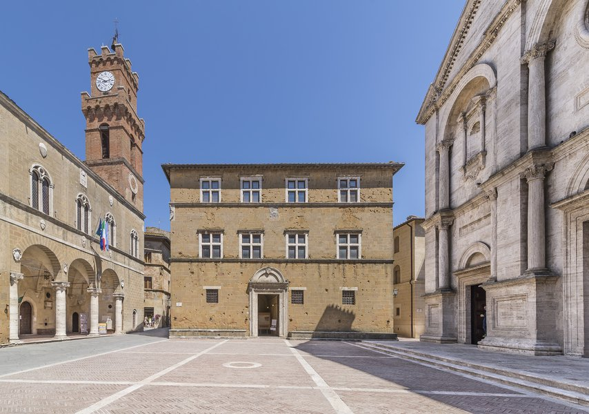 Pienza square Pius II. The city of Pienza takes its name from this great pope