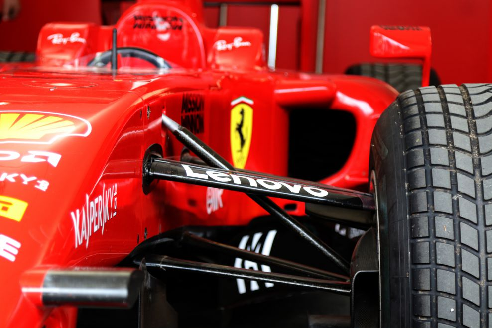 A Formula One Ferrari race car