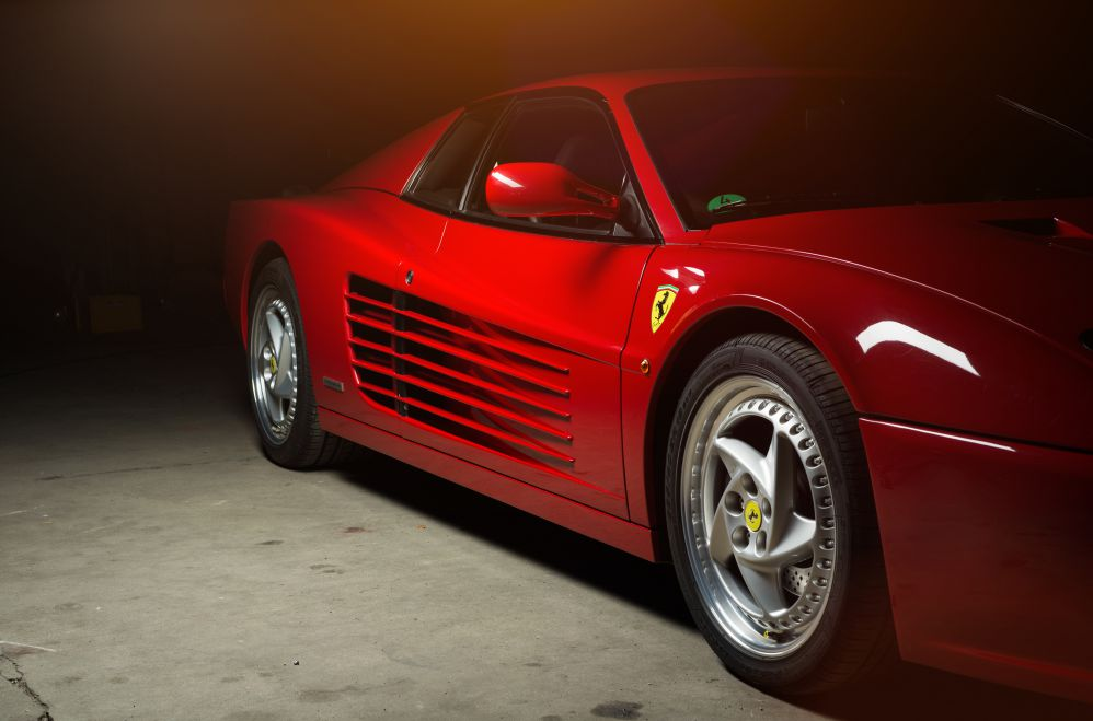 Race red, the color of Ferrari sport cars