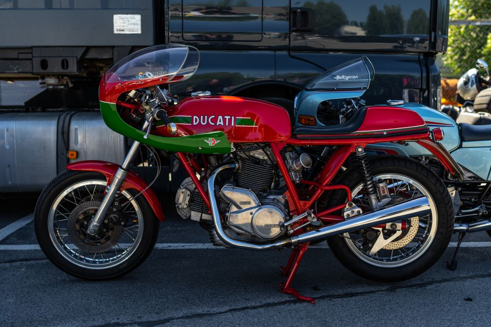 Classic Ducati bike: you will find a lot of them at the Ducati Museum
