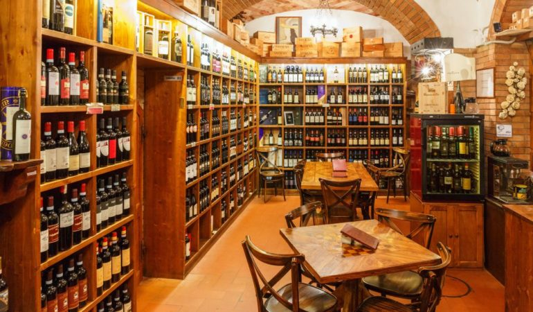 Buying Wine in Tuscany